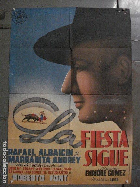 ABI49 LA FIESTA SIGUE ALBAICIN MARGARITA ANDREY TOROS POSTER ORIGINAL 70X100 ESTRENO LITOGRAFIA (Cine - Posters y Carteles - Clasico Español)