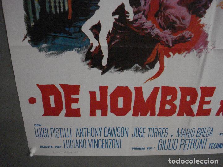 Cine: ABI71 DE HOMBRE A HOMBRE LEE VAN CLEEF SPAGHETTI POSTER ORIGINAL 70X100 ESTRENO - Foto 5 - 286453158