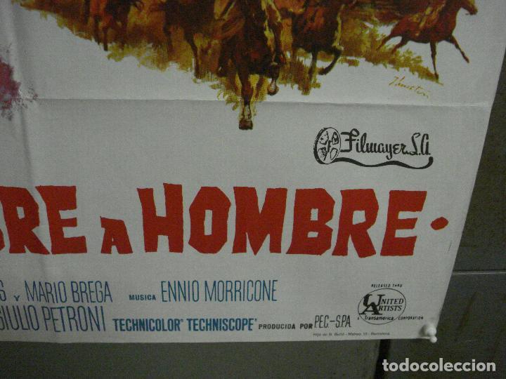 Cine: ABI71 DE HOMBRE A HOMBRE LEE VAN CLEEF SPAGHETTI POSTER ORIGINAL 70X100 ESTRENO - Foto 9 - 286453158