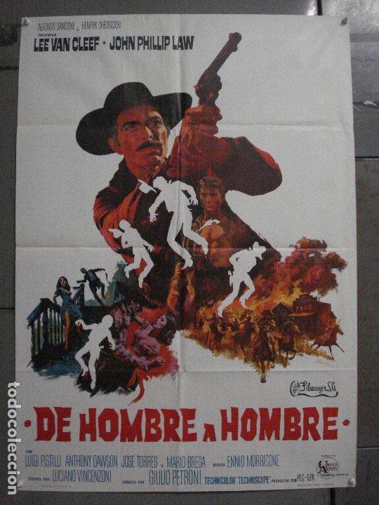 ABI71 DE HOMBRE A HOMBRE LEE VAN CLEEF SPAGHETTI POSTER ORIGINAL 70X100 ESTRENO (Cine - Posters y Carteles - Westerns)
