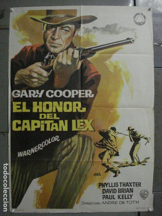 ABI74 EL HONOR DEL CAPITAN LEX GARY COOPER POSTER ORIGINAL 70X100 R-66 (Cine - Posters y Carteles - Westerns)