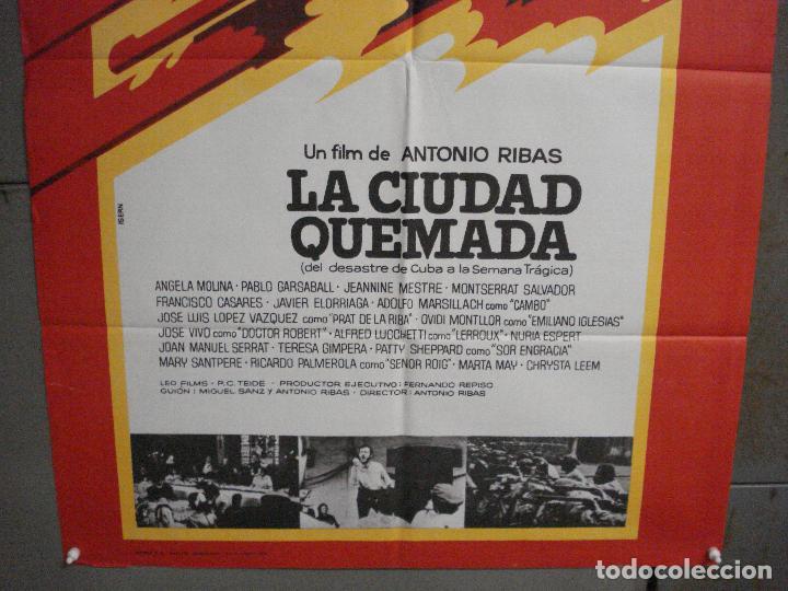 Cine: ABI76 LA CIUDAD QUEMADA CIUTAT CREMADA ANTONI RIBAS SERRAT ISERN POSTER ORIGINAL 70X100 ESTRENO - Foto 3 - 286456783