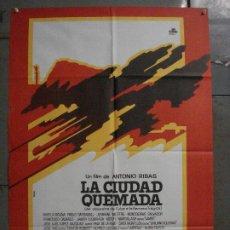 Cine: ABI76 LA CIUDAD QUEMADA CIUTAT CREMADA ANTONI RIBAS SERRAT ISERN POSTER ORIGINAL 70X100 ESTRENO. Lote 286456783