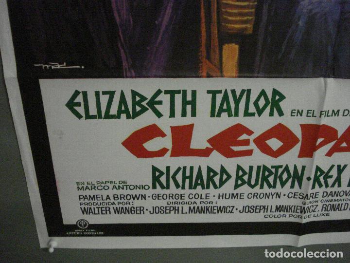 Cine: ABI82 CLEOPATRA ELIZABETH TAYLOR RICHARD BURTON REX HARRISON MAC POSTER ORIGINAL 70X100 ESPAÑOL R-75 - Foto 5 - 286483113
