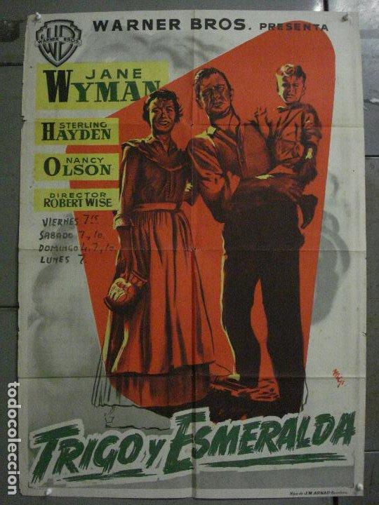 ABI83 TRIGO Y ESMERALDA STERLING HAYDEN JANE WYMAN MCP POSTER ORIGINAL 70X100 ESTRENO LITOGRAFIA (Cine - Posters y Carteles - Aventura)