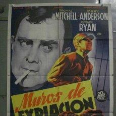 Cine: ABI86 MUROS DE EXPIACION SOLIGO THOMAS MITCHELL POSTER ORIGINAL ESTRENO 70X100 LITOGRAFIA. Lote 286485308