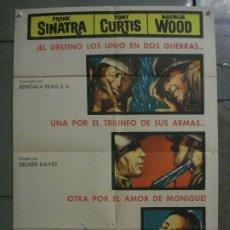 Cine: ABI87 CENIZAS BAJO EL SOL NATALIE WOOD FRANK SINATRA TONY CURTIS POSTER ORIGINAL ESTRENO 70X100. Lote 286485863