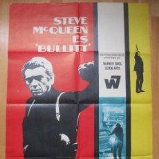Cine: CARTEL CINE BULLITT STEVE MCQUEEN ROBERT VAUGHN MCP 1969 C798. Lote 286645858