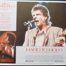 Cine: HARD TO HOLD LOBBY CARD,USA,1984,Nº 4,THOMAS HEDLEY JR,RICHARD ROTHSTEIN. Lote 286875338