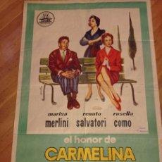 Cine: ANTIGUO CARTEL DE CINE ORIGINAL AÑOS 60 CARMELINA. Lote 286899143