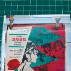 Cine: 1967 CLAUDIA CARDINALE UNE ROSE POUR TUS FRANCO CRISTALDI 80X60 BUENO ESTADO 409. Lote 286936103