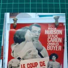 Cine: RICK HUDSON LESLIE CARON CHARLES BOYER LE COUP OREILLER 80X60 BUENO ESTADO 408. Lote 286936413