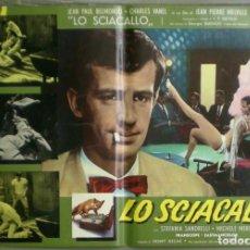 Cine: VC30D EL GUARDAESPALDAS BELMONDO MELVILLE GEORGES SIMENON SET 6 POSTERS ORIGINALES ITALIANOS 47X68. Lote 287175703