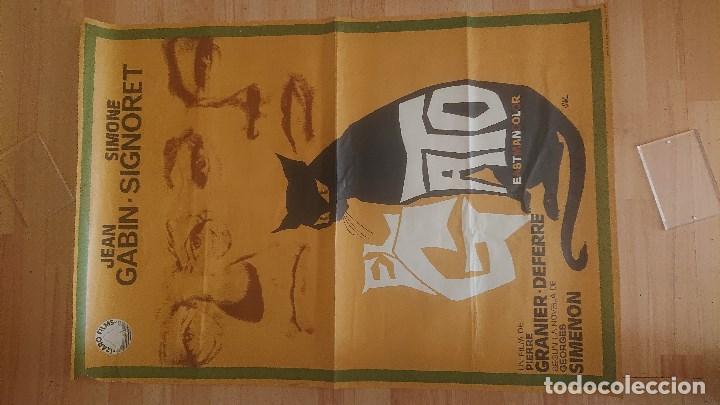 CARTEL DE DE LA PELICULA , EL GATO , TAMAÑO 70X100 CM APROX , LEER DESCRIPCION (Cine - Posters y Carteles - Suspense)