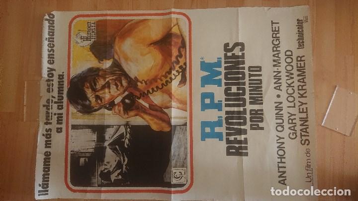 CARTEL DE DE LA PELICULA , REVOLUCIONES POR MINUTO , TAMAÑO 70X100 CM APROX , LEER DESCRIPCION (Cine - Posters y Carteles - Suspense)