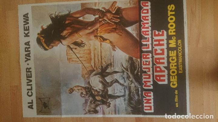 CARTEL DE DE LA PELICULA , UNA MUJER LLAMADA APACHE , TAMAÑO 70X100 CM APROX , LEER DESCRIPCION (Cine - Posters y Carteles - Westerns)