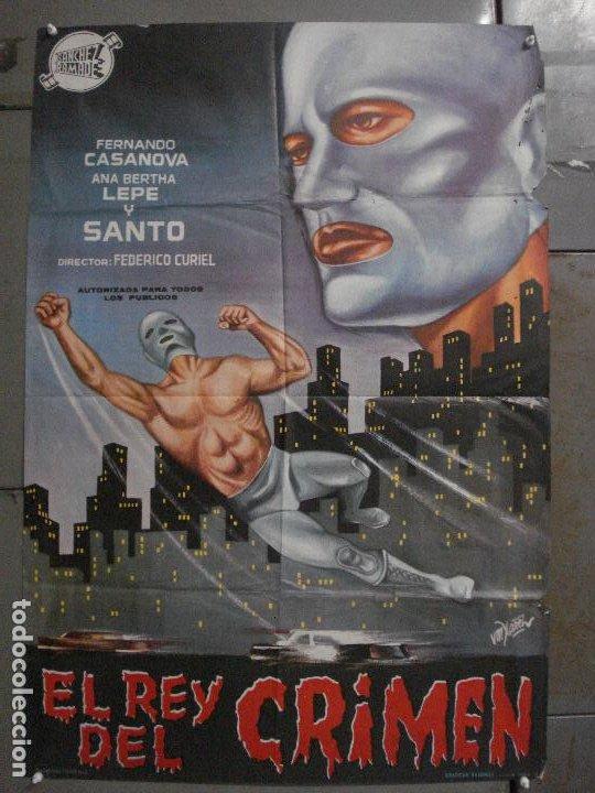 CDO M179 SANTO EL REY DEL CRIMEN ENMASCARADO DE PLATA YAÑEZ POSTER ORIGINAL 70X100 ESTRENO (Cine - Posters y Carteles - Ciencia Ficción)