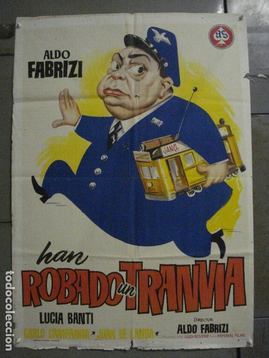 CDO M180 HAN ROBADO UN TRANVIA ALDO FABRIZI JANO POSTER ORIGINAL 70X100 ESTRENO (Cine - Posters y Carteles - Comedia)
