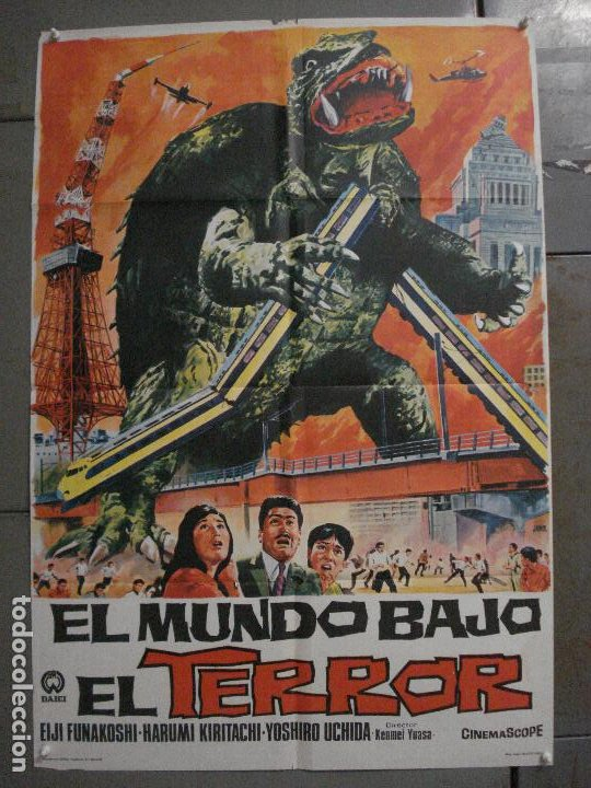 CDO M181 EL MUNDO BAJO EL TERROR GAMERA POSTER ORIGINAL ESPAÑOL 70X100 ESTRENO (Cine - Posters y Carteles - Ciencia Ficción)