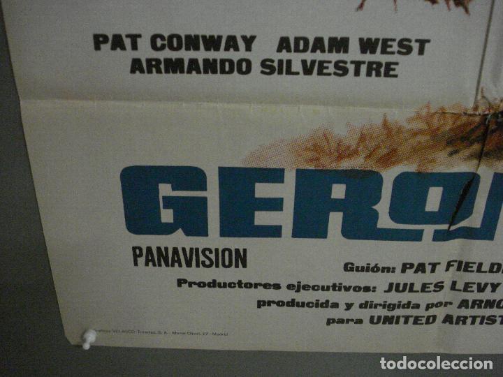 Cine: CDO M182 GERONIMO CHUCK CONNORS INDIOS POSTER ORIGINAL 70X100 ESTRENO - Foto 5 - 287230653