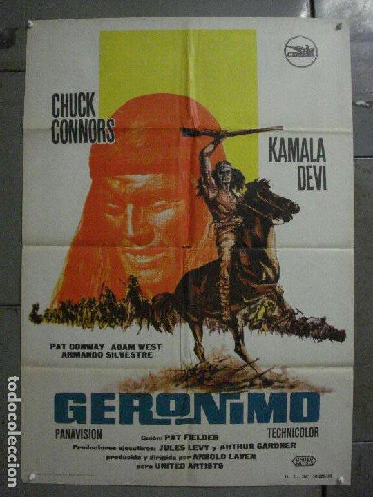 CDO M182 GERONIMO CHUCK CONNORS INDIOS POSTER ORIGINAL 70X100 ESTRENO (Cine - Posters y Carteles - Westerns)