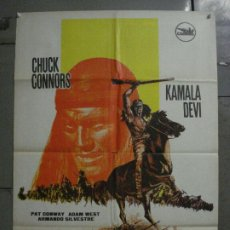 Cine: CDO M182 GERONIMO CHUCK CONNORS INDIOS POSTER ORIGINAL 70X100 ESTRENO. Lote 287230653