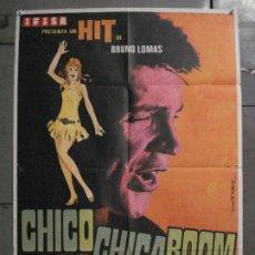 Cine: CDO M183 CHICO CHICA BOOM BRUNO LOMAS MARTI RIPOLL POSTER ORIGINAL 70X100 ESTRENO. Lote 287231243