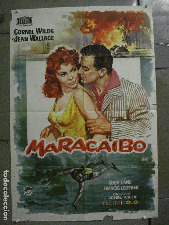 CDO M185 MARACAIBO CORNEL WILDE JANO POSTER ORIGINAL 70X100 ESTRENO (Cine - Posters y Carteles - Aventura)