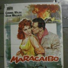 Cine: CDO M185 MARACAIBO CORNEL WILDE JANO POSTER ORIGINAL 70X100 ESTRENO. Lote 287233038