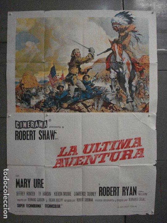 CDO M186 LA ULTIMA AVENTURA CUSTER ROBERT SHAW POSTER ORIGINAL 2 HOJAS 100X140 ESTRENO CINERAMA (Cine - Posters y Carteles - Westerns)