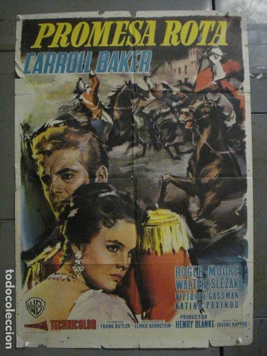 CDO M189 PROMESA ROTA CARROLL BAKER ROGER MOORE POSTER ORIGINAL 70X100 ESTRENO (Cine - Posters y Carteles - Aventura)