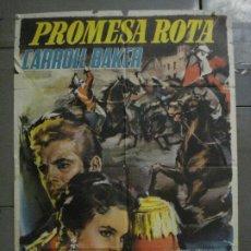 Cine: CDO M189 PROMESA ROTA CARROLL BAKER ROGER MOORE POSTER ORIGINAL 70X100 ESTRENO. Lote 287241058