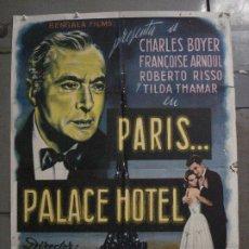 Cine: CDO M190 PARIS PALACE HOTEL CHARLES BOYER FRANCOIS ARNOUL POSTER ORIGINAL 70X100 ESTRENO. Lote 287241918