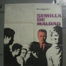 Cine: CDO M195 SEMILLA DE MALDAD GLENN FORD ANNE FRANCIS SIDNEY POITIER POSTER ORIGINAL 70X100 ESTRENO. Lote 287246143