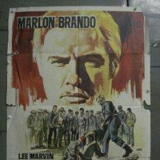Cine: CDO M196 SALVAJE MARLON BRANDO POSTER ORIGINAL 70X100 ESTRENO. Lote 287246853