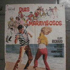 Cine: CDO M198 DIAS MARAVILLOSOS CLIFF RICHARD POSTER ORIGINAL 70X100 ESTRENO. Lote 287248483