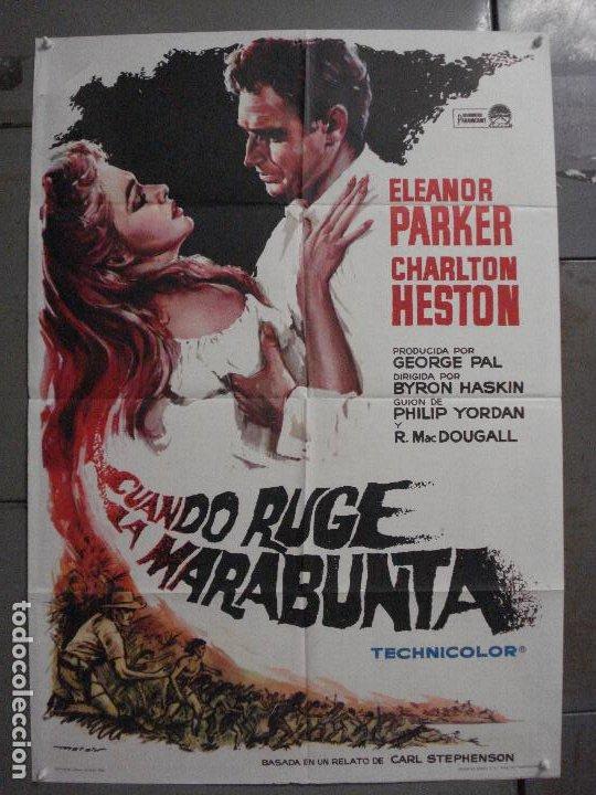 CDO M199 CUANDO RUGE LA MARABUNTA CHARLTON HESTON MATAIX POSTER ORIGINAL 70X100 ESPAÑOL R-66 (Cine - Posters y Carteles - Aventura)