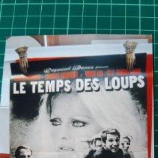Cine: LE TEMPS DES LOUPS CHARLES AZNAVOUR VIRNA LISI MARCELO BOZZUFFI 80X60 BUENO ESTADO 564. Lote 287256703