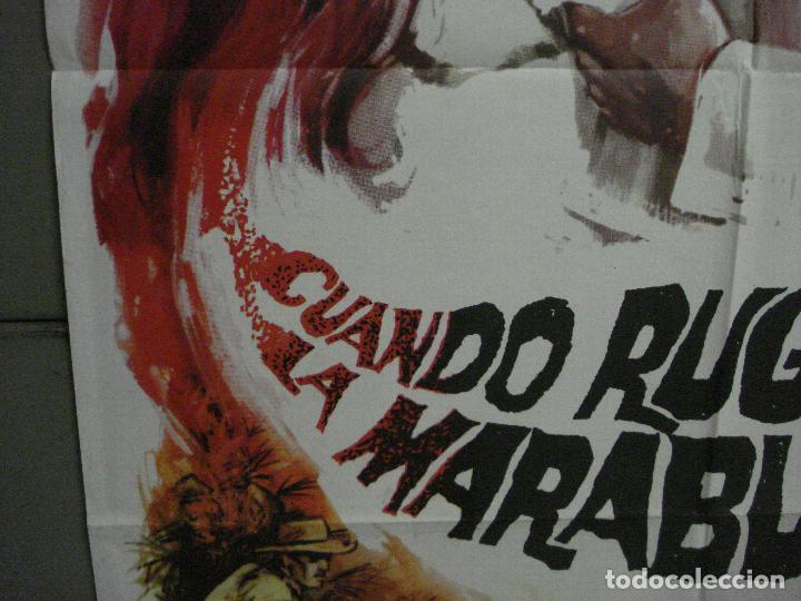 Cine: CDO M199 CUANDO RUGE LA MARABUNTA CHARLTON HESTON MATAIX POSTER ORIGINAL 70X100 ESPAÑOL R-66 - Foto 4 - 287249113