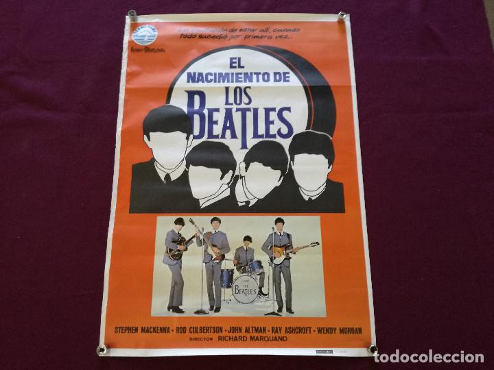 1980, CARTEL DE CINE, EL NACIMIENTO DE LOS BEATLES, IZARO FILMS, 100 X 70 CMS. (Cine - Posters y Carteles - Musicales)