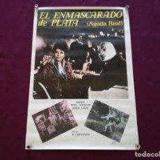 Cinema: 1982, CARTEL DE CINE, EL ENMASCARADO DE PLATA (ÁGUILA REAL), 100 X 70 CMS.. Lote 287413203