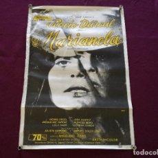 Cinema: 1972, CARTEL DE CINE, MARIANELA, ROCÍO DÚRCAL, IMPERIAL FILMS, 100 X 70 CMS.. Lote 287413898