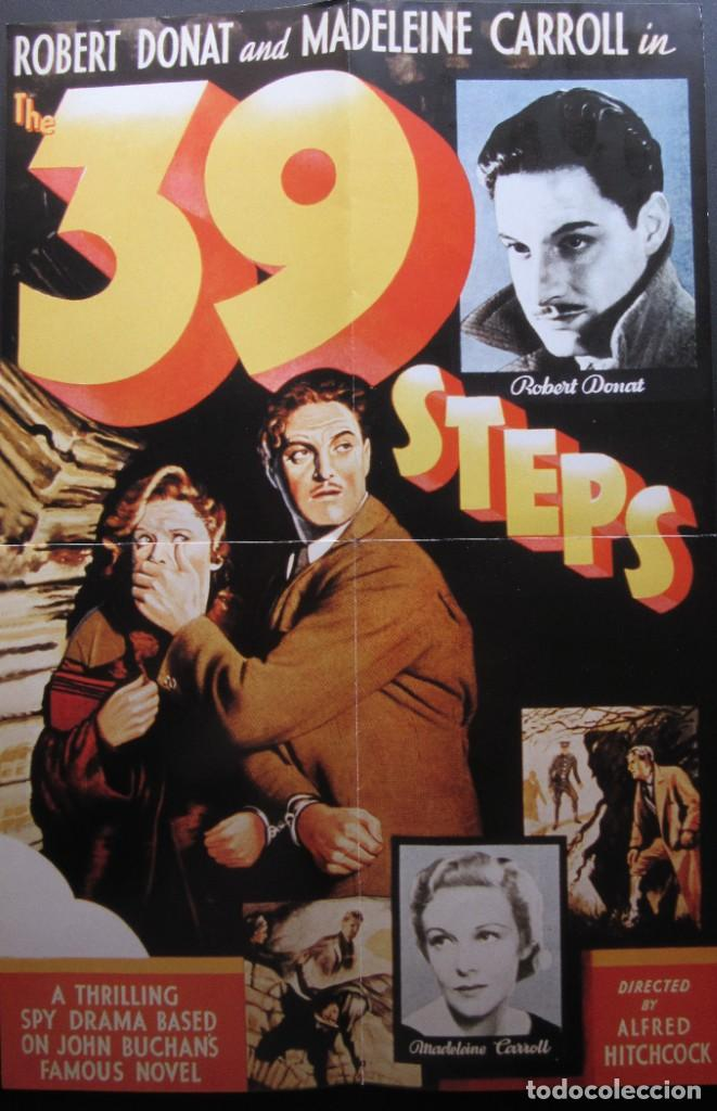 39 ESCALONES - ALFRED HITCHCOCK (Cine - Posters y Carteles - Suspense)