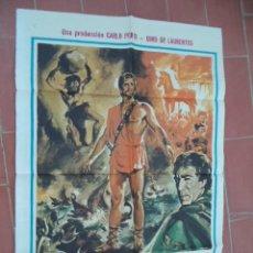 Cinéma: CARTEL DE CINE 70X 100 APROX MOVIE POSTER VER FOTO ULYSES KIRK DOUGLAS ANTHONY QUINN CARLO PONTI. Lote 287425868