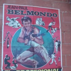 Cine: CARTEL DE CINE 70X 100 APRO MOVIE POSTER VER FOTO EL PROFESIONAL LE PROFESSIONNEL JEAN PAUL BELMONDO. Lote 287438708