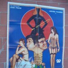 Cinema: CARTEL DE CINE 70X 100 APROX MOVIE POSTER VER FOTO QUE GOZADA DE DIVORCIO JANO ANDRES PAJARES. Lote 287445633