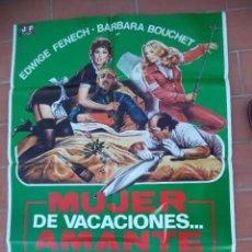 Cine: CARTEL DE CINE 70X 100 APROX MOVIE POSTER VER FOTO MUJER DE VACACIONES AMANTE EN LA CIUDAD. Lote 287447753