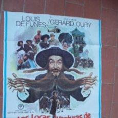 Cine: CARTEL DE CINE 70X 100 APROX MOVIE POSTER VER FOTO LAS LOCAS AVENTURAS DE RABBI JACOB. Lote 287454213