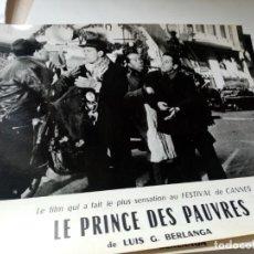 Cine: FOTOGRAMA EN FRANCE DE BERLANGA LE PRINCE DES PAUVRES MEDIDA 23X30 ORIGINAL. Lote 287472283