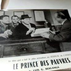 Cine: FOTOGRAMA EN FRANCE DE BERLANGA LE PRINCE DES PAUVRES MEDIDA 23X30 ORIGINAL. Lote 287472633